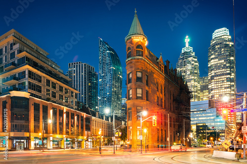 Toronto downtown by sunrise Wallpaper Mural