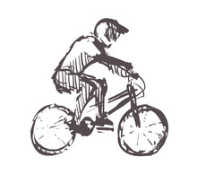 Sketch Of Bmx, Sport And Activ...