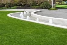 Fountain Device In Garden Land...