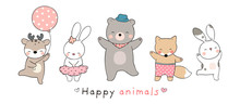Draw Collection Happy Animal O...