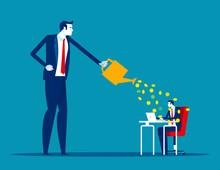 Salary For Motivation. Concenpt Business Financial Vector Illustration, Important, Flat Cartoon Character Design