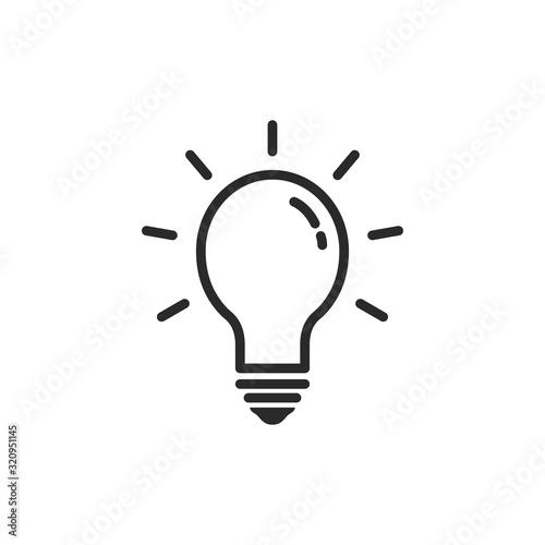 Obraz Light Bulb Icon Vector Illustration - fototapety do salonu