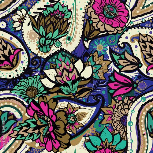 kwiatowy-wzor-w-stylu-vintage-orientalnym-stylu-paki