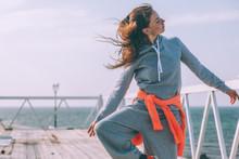 Hip Hop Dancer In Fashion Spor...