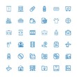 Editable 36 storage icons for web and mobile