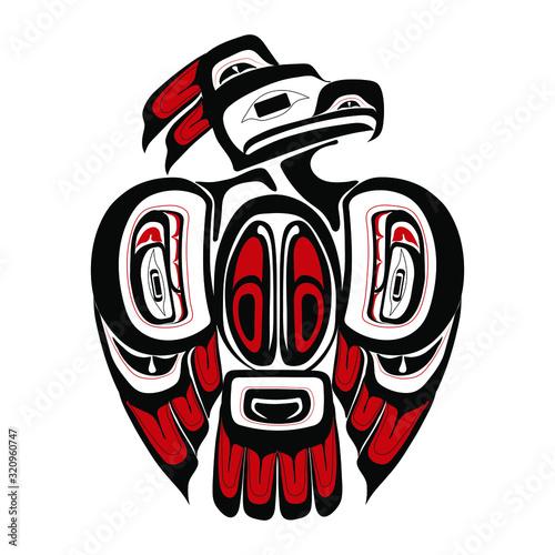 Cuadros en Lienzo Haida thunderbird tattoo