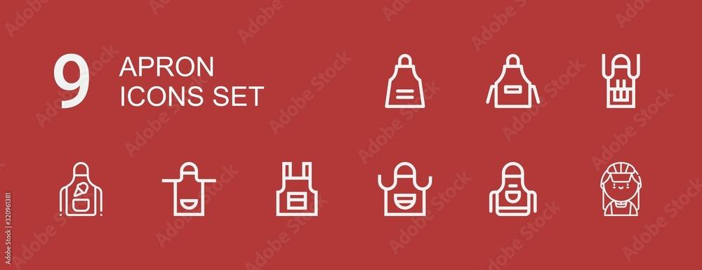 Fototapeta Editable 9 apron icons for web and mobile