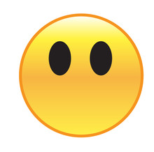 Speechless Emoticon. Yellows M...