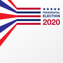 Illustration Vector Graphic Presidential Election 2020 Background