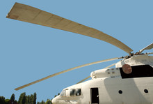 Long Blades Military Cargo Helicopter