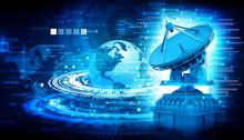 Digital World With Satellite D...