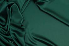 Fabric Satin Silk Drapery. Gre...