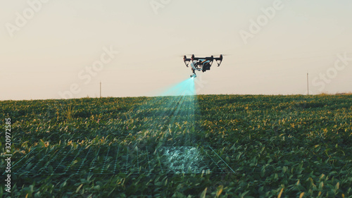 Photo Flying Smart Agriculture Drone