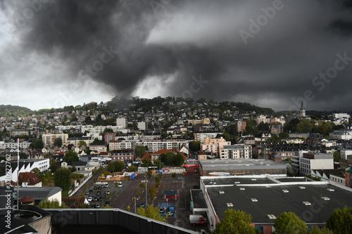 Pollution sur les hauts de Rouen Tablou Canvas