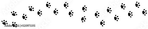 Dog cat paw print track diagonal Fototapete