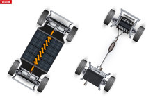 Set Of Car Rolling Chassis. Un...