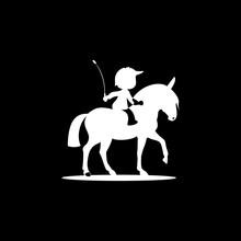 Horse Kids Logo Design Vector