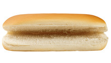 HOT DOG Bun Isolated On White ...