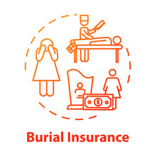 Burial Insurance Concept Icon....