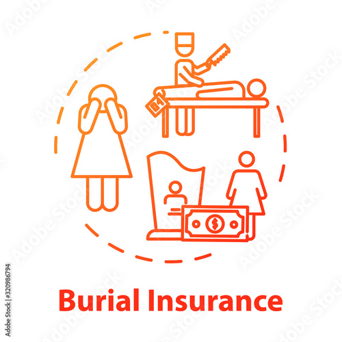 Photo Burial insurance concept icon