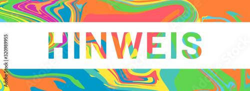 Photo hinweis web Sticker Button