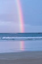 Rainbow Over The Ocean With Cl...