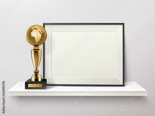 Trophy And Frame Composition Canvas-taulu