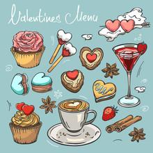 Valentine's Day Set With Pastr...