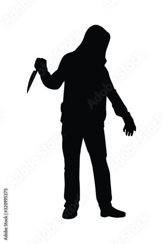 assassin silhouette vector Canvas Print