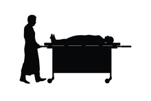 The Man Works In Morgue Silhou...
