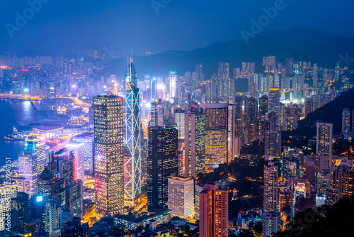 Beautiful night view of Hong Kong..