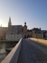 Steinerne Brücke Mit Dom Regensburg
