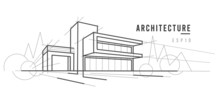 Modern Architecture Sketch. Li...