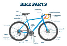 Bike Parts Labeled Vector Illu...