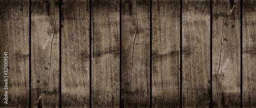 Fototapeta Old dark wood background texture banner obraz