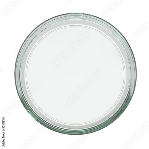 Clear Empty Transparent Glass Petri Dish Canvas Print
