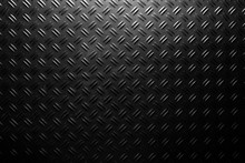 Black Checker Plate Background...