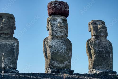 Moai statue on Easter Island, Chile Canvas Print