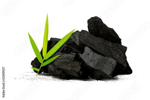 Natural wood charcoal,Bamboo charcoal powder has medicinal properties with tradi Canvas Print