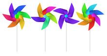 Color Pinwheel. Multi Colored ...