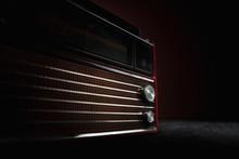 Red Radio On Dark Background. ...
