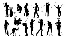 A Set Of Golfer Sports People ...