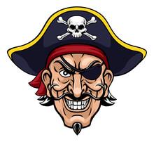 A Pirate Cartoon Character Cap...