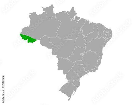 Photo Karte von Acre in Brasilien
