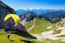 Paragliders On The Pilatus Mou...