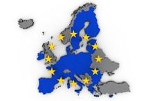 Eu Map European Union Europe Political 3d Illustration