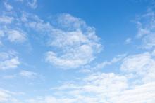 Bright Blue Sky With White Clo...