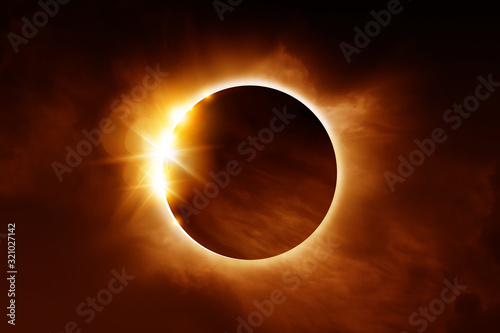 Fotomural A solar eclipse