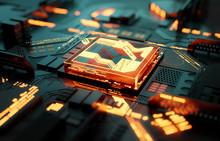 Futuristic CPU Processor And M...