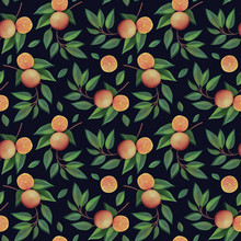 Orange Branches With Fruits Se...